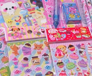 colorful, stickers, and kidcore image
