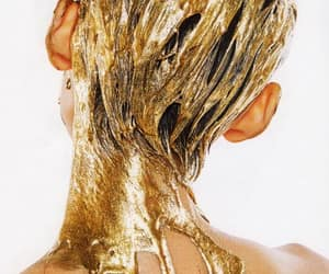 dripping, gold, and hair image