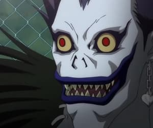 death note, ryuk, and sinigami image