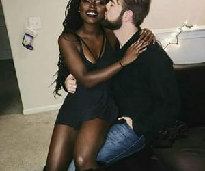black and white, dating, and biracial image