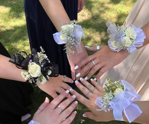 Prom, corsages, and friends image