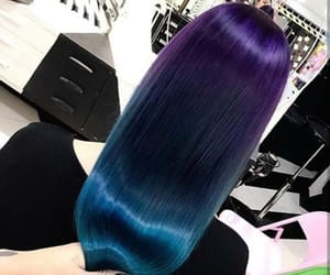Bleu, cheveux, and violet image