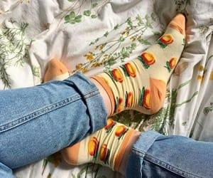 aesthetic, peach, and socks image
