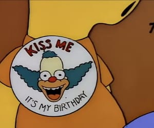 bart, birthday, and Krusty image