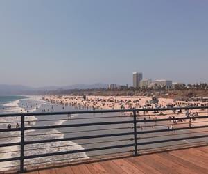 beach, los angeles, and santa monica image