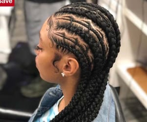black, braids, and cornrows image