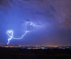 lightning, thunder, and blue image