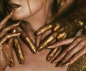 gold, hands, and regal image