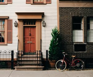 vintage, house, and bike image