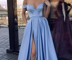 blue dress, prom dress, and prom gown image