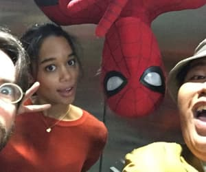 tom holland, spiderman, and laura harrier image