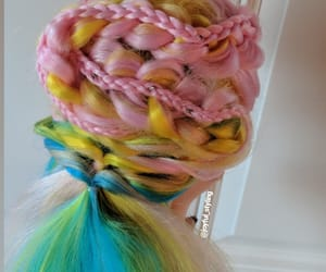 braids, color, and hair image