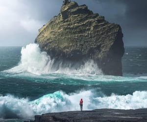 iceland, sea, and wave image