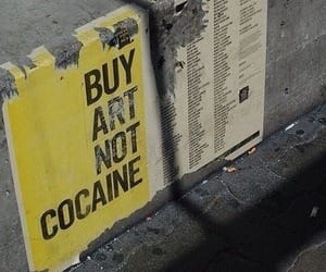 art, cocaine, and grunge image