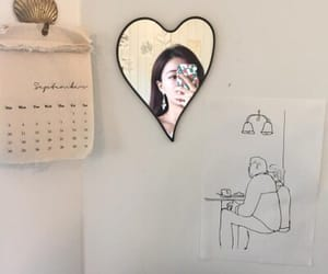 aesthetic, girl, and heart image