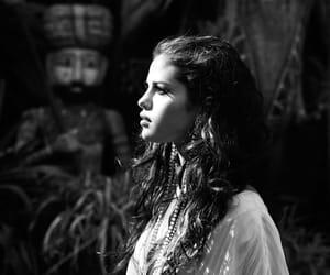 selena gomez, black and white, and stars dance image
