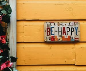happy, yellow, and quotes image