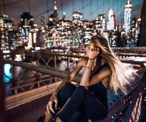 girl, city, and lights image