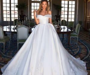 dress, ideas, and wedding image
