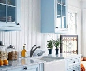 blue, decor, and kitchen image