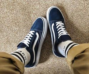 boy, shoe, and vans image