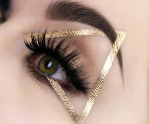 eyebrows, eyelashes, and gold image