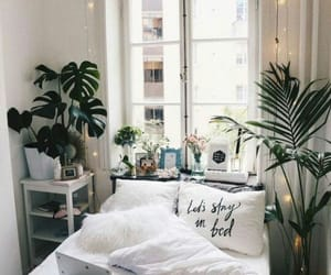 apartment, bed, and decoration image