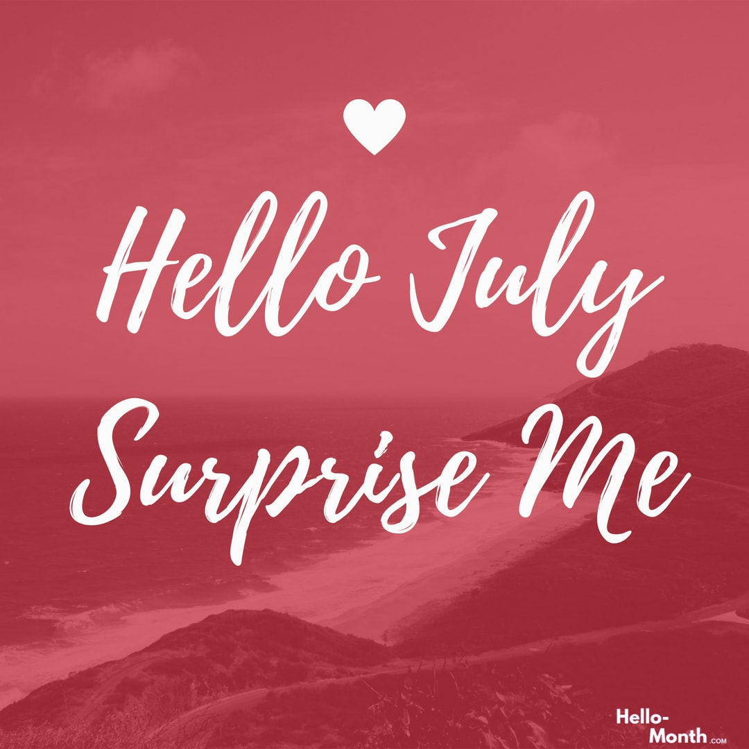 july, hello july, and welcome july image