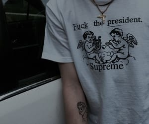 supreme, tattoo, and aesthetic image