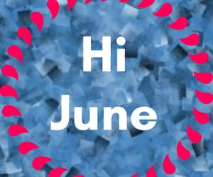 hello june images, welcome june images, and hi june images image