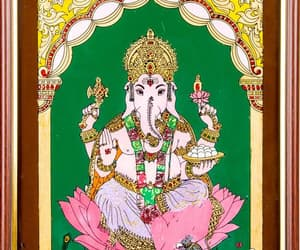 ganesha paintings, tanjore art paintings, and tanjore painting designs image