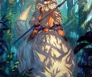 mononoke hime, ghibli, and girl image