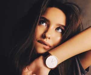 beautiful, clock, and eyes image