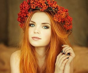 hair, make up, and red image