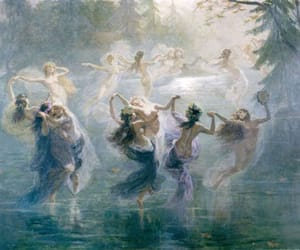 art, dance, and nymphs image