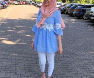 light blue hijab spring image