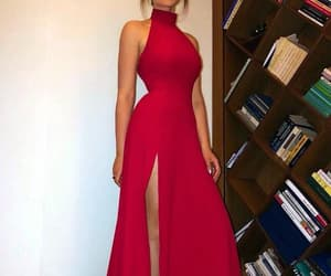 prom dress and high neck prom dress image