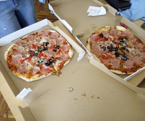 eat, goodfood, and pizza image
