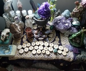 altar, crystals, and magick image