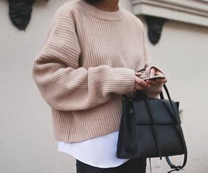 bag, beige, and black image