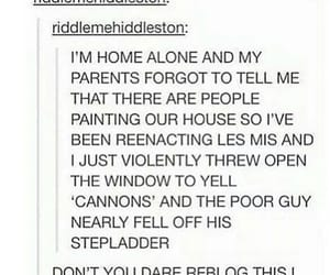 funny, tumblr, and les mis image