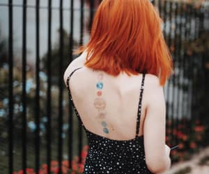 girl, orange hair, and red head image