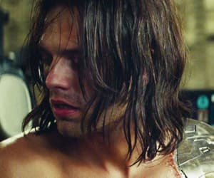 bucky, gif, and winter soldier image