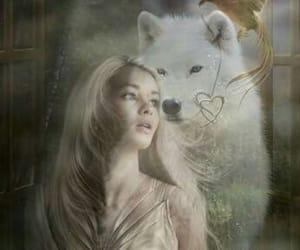 blonde, werewolf, and wolf image