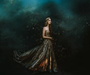 crown, dress, and fantasy image