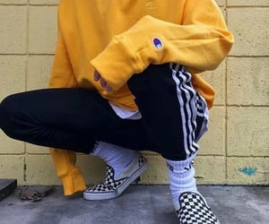 vans, style, and yellow image