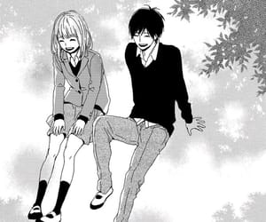 anime, couple, and monochrome image