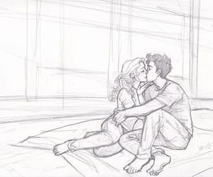 percabeth, kiss, and love image