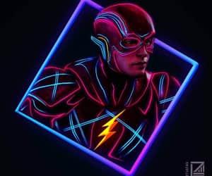 comics, flash, and neon image