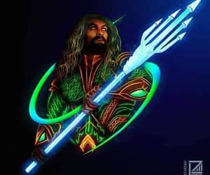 aquaman, comics, and neon image